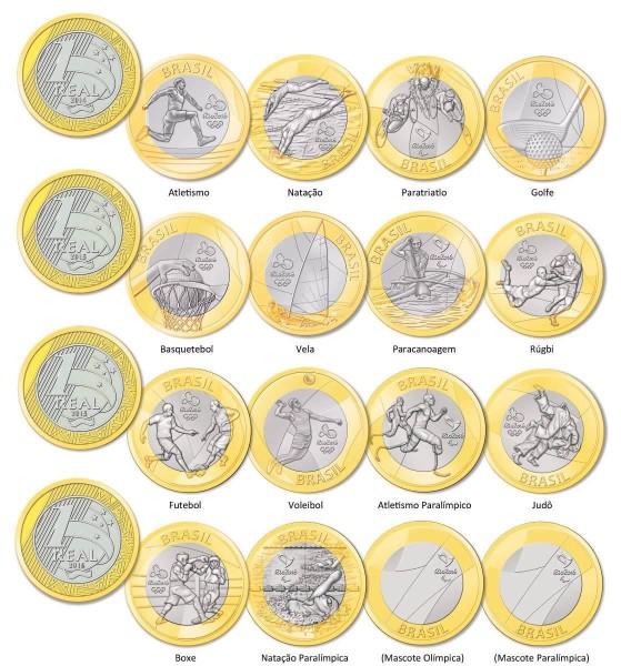 Все монеты в Рио-де-Жанейро