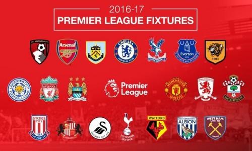 Команды АПЛ сезона 2016/2017